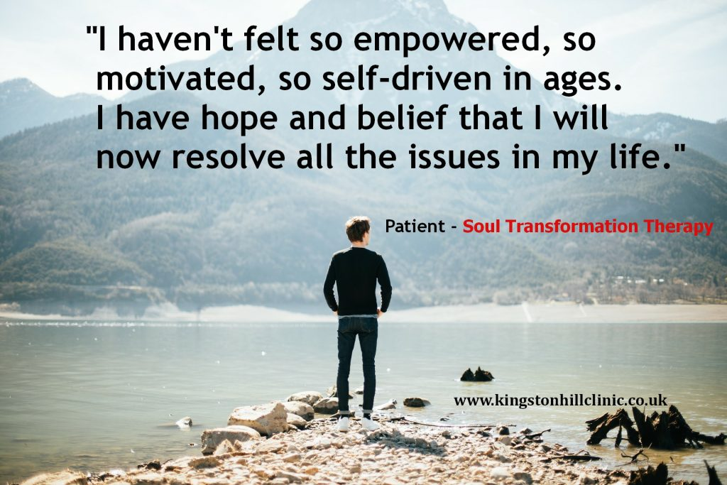 Patient's positive feedback of Soul Transformation Therapy at Kingston Hill Clinic